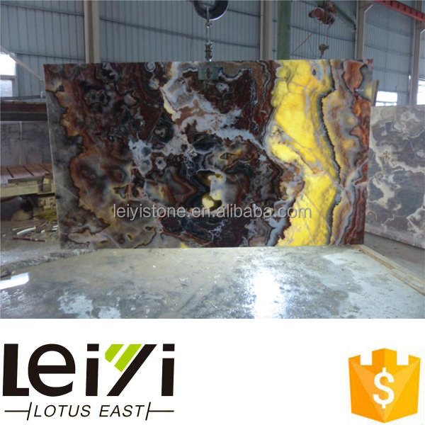 Natural marble big slab polished red mexico onyx for project use