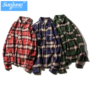 Flannel plaid casual shirt