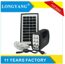Portable small solar panel system for rural area home 3w mini solar lighting kit