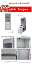 Tall 3 drawer roller shutter door file cabinet/Euloong new design