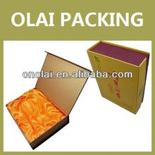 high end luxury paper packaging box for wine bottle carrier