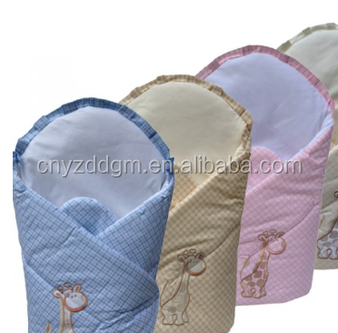baby swaddle blanket/Factory Hot Sale Blanket Body Wraps/animal with blanket
