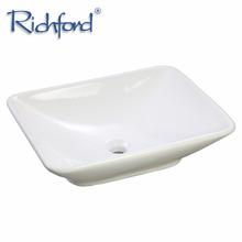 Hot Selling European Style Above Counter Bathroom Rectangular Ceramic Face Basin