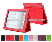 Good Quality Cover Leather case for ipad 4 with stand function