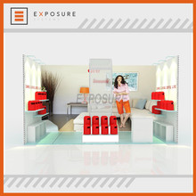 customize DIY trade show equipment durable beautiful booth design10 ft x 20ft