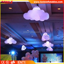 indoor party decoration inflatable with LED light/ inflatable lightning cloud shape balloon