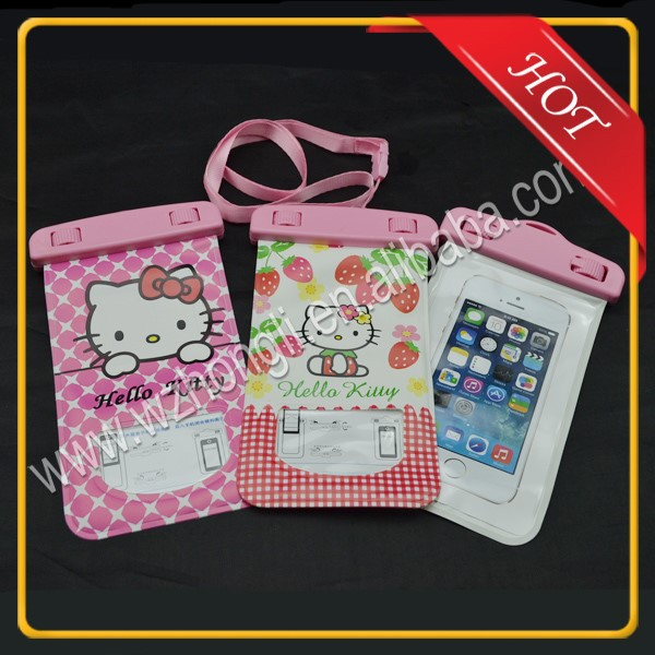 Hot-sale New-produced Waterproof PVC Cell Phone/Mobile Phone Case Bag with Promotional Gift