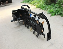 skid steer trencher, small chain trenchers, trenching machine for sale