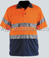 Winki High Visibility Reflective Safety Polo Shirt, orange and blue