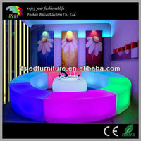 2013 newly stylish rechargeable rgb glow bar table / led furniture with remote control