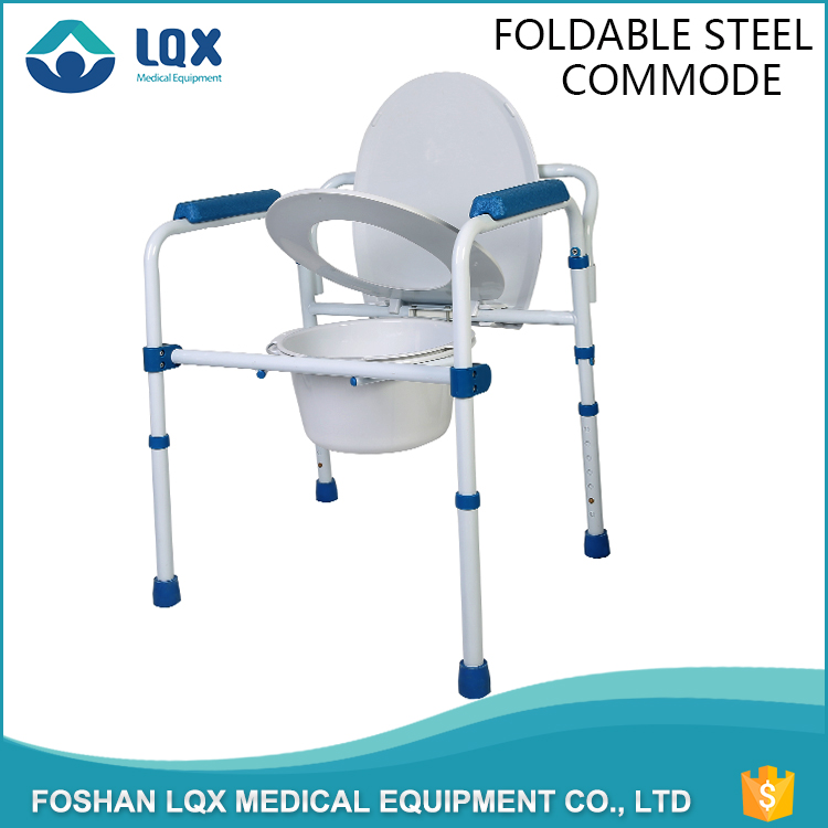 Best price excellent quality folding commode chair with bedpan