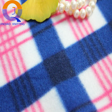 Wholesale 100%Polyester Double Sided printed plaid brush double sides fleece fabric/nap fabric for garment
