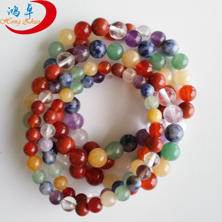Good quality factory directly gemstone bracelet green jade bead bracelets natural stone stretch
