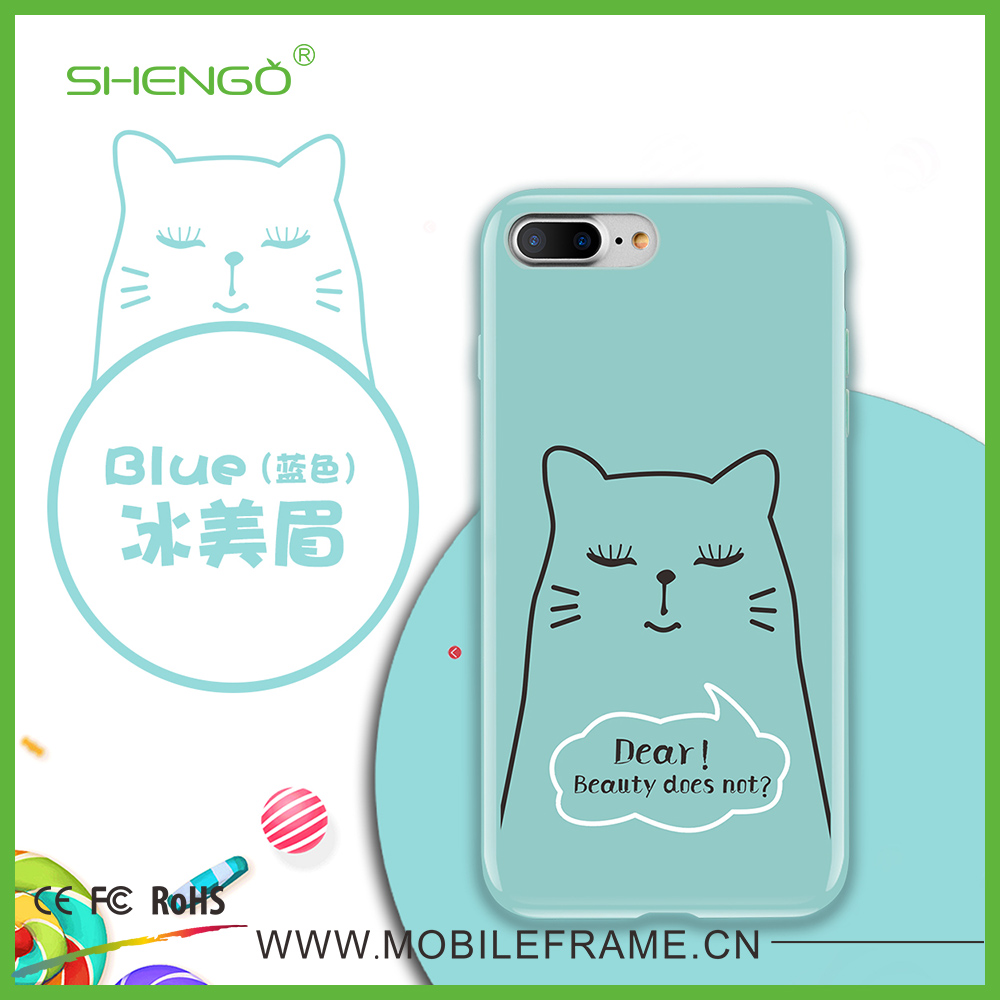 Hot Accessories Moblie Phones in China OEM Cute Design Soft TPU Case UV Printing for iPhone
