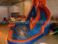 2015 Hot selling PVC water inflatable castle, inflatable water slide castle