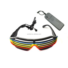Hot Sale! Polar light 3 Super luminance Double Color EL wire EL Shutter glasses