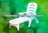 White Plastic Beach Lounge With UV proof|modern outdoor sun bed|lounge furniture