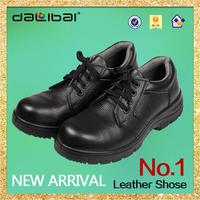 dalibai brand professional new steel toe cap eatra wide black leather safety shoes factory