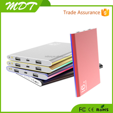 Hot sale new most popular 20000mah li polymer slim portable battery charger of mobile phone power bank
