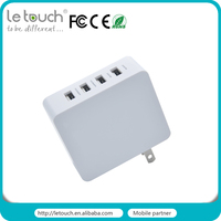 2016 new product 6.8A multiple port home usb charger for mobile phone and tablet PC