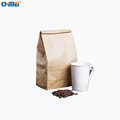 Factory High quality food grade custom stand up Square Botton recycle packaging brown kraft bag for food/coffee beans