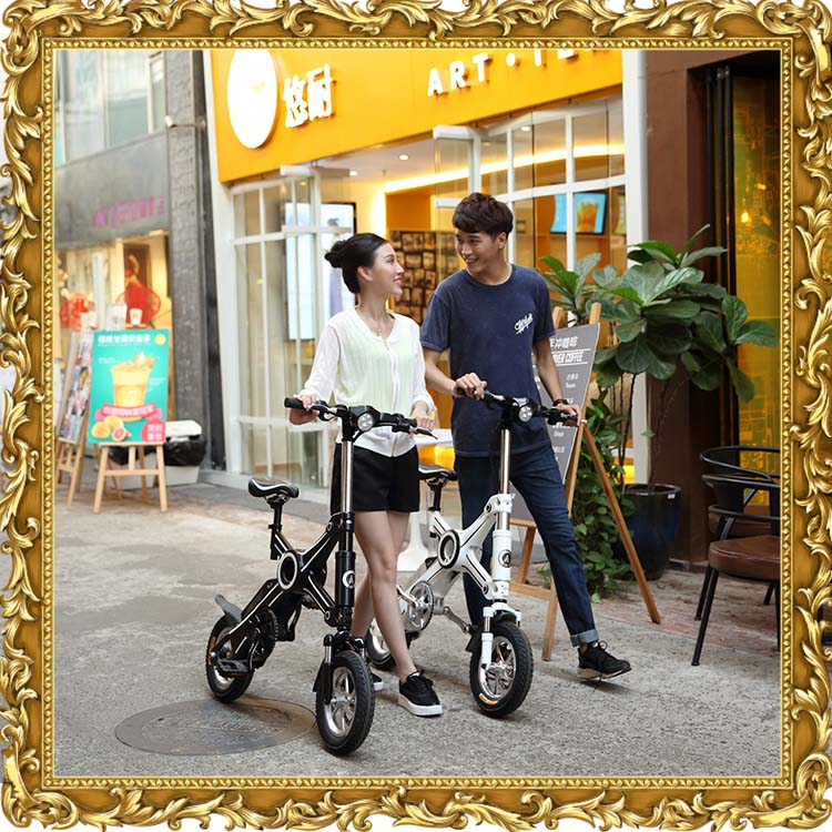 2017 new ebike electric scooter smart mobility vehicle folding electric bike with 250W Panasonic battery