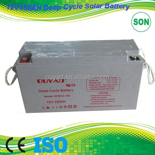 100AH 12 volt wind turbine battery for home UPS with high efficiency