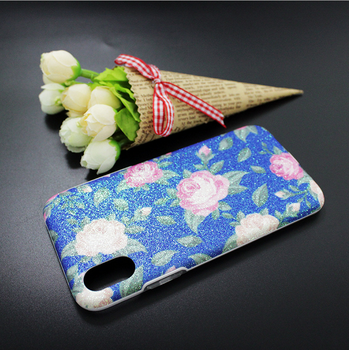 Factory price Glitter Flower soft phone case for iPhone 8