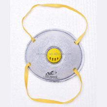 N95 particulate respirator dust mask with valve for mining