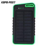 Keychain Solar Charger 5000mAh portable waterproof Power Bank for Smartphone