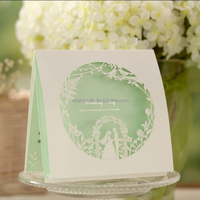 Wholesale Luxury Handmade Decoration Greeting Wedding Invitation Card CW006