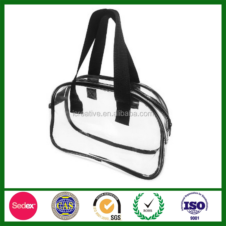 Waterproof Hand Pouch Cosmetic Wash Versatile Storage PVC zipper Bag