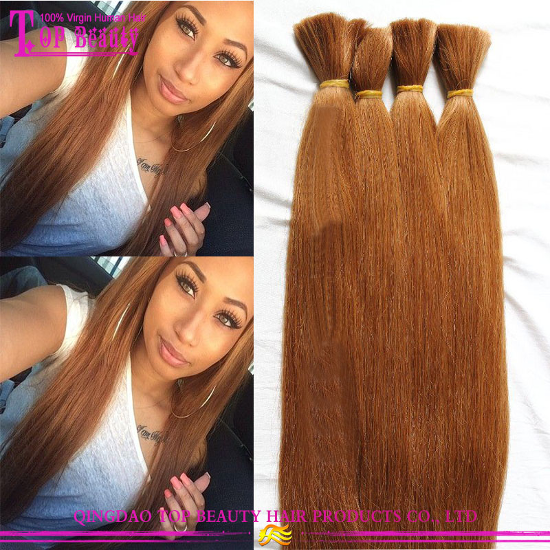 Top grade factory price 100% real hair extension wholesale hair weave #30 color