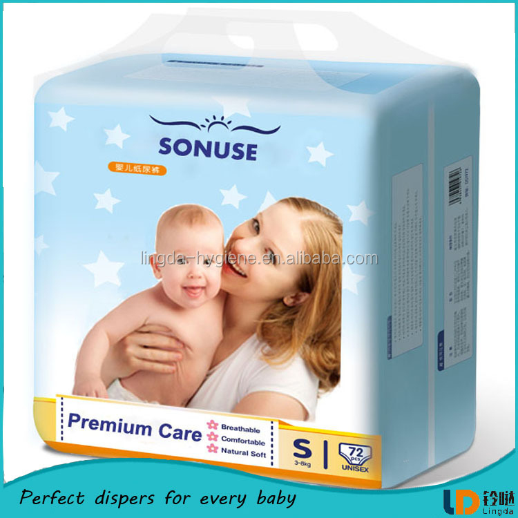 Super quality top dry soft disposable baby diaper