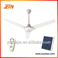 100% Copper Brushless Motor Solar DC Ceiling Fan With Strong Wind