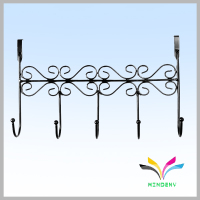 Wall mounted hanging retail t-shirt display rack for clothes