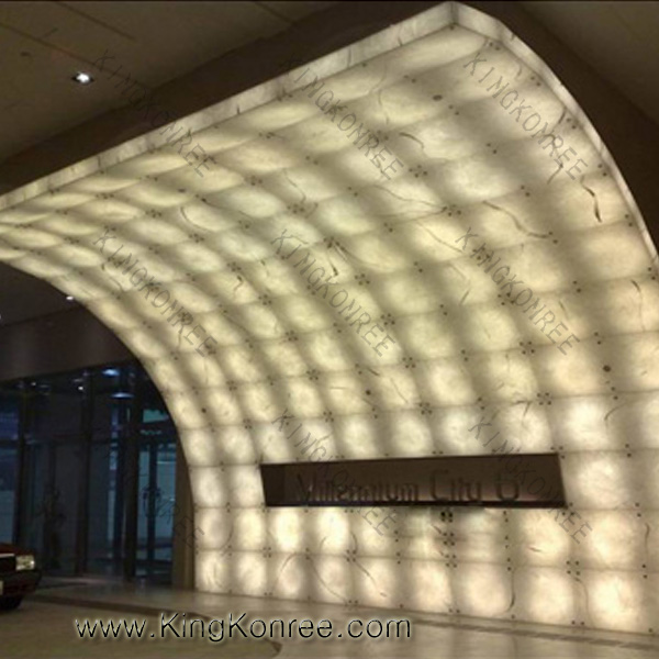 Decorative Translucent Panels : Artificial solid surface hotel decorative translucent faux