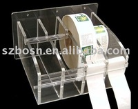 Acrylic Tape Dispenser,Plexiglass Label Display,Lucite Film Dispenser