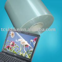 Solvent adhesive PET screen protective film