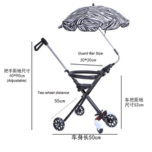 Three Wheel Baby Carry Push Bike for easy folder with sun umbrella
