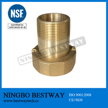 NSF 61 approved lead free brass water meter coupling