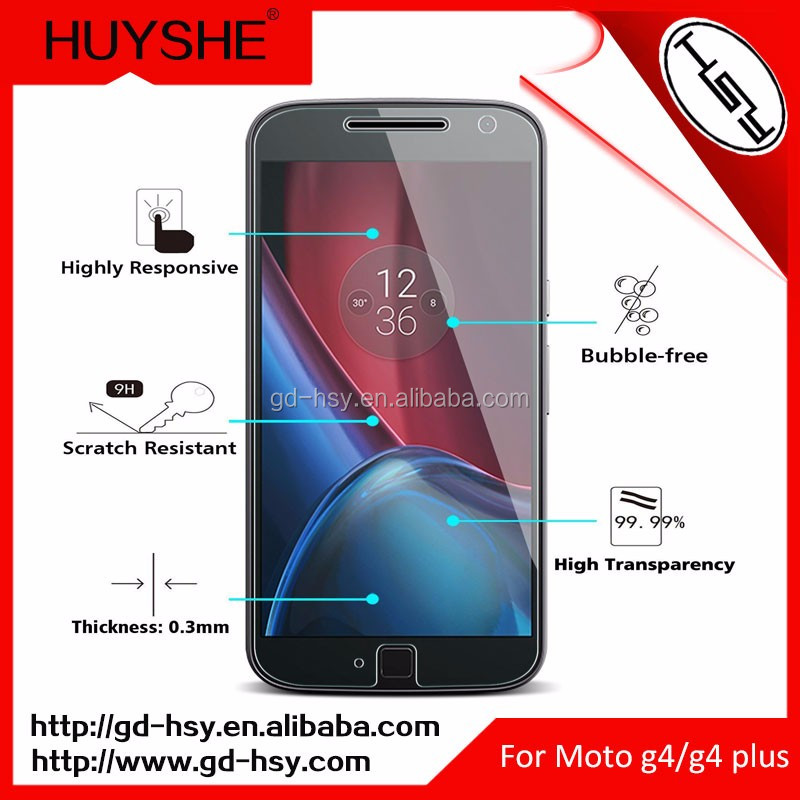 New Premium Scratch Proof Tempered Glass Screen Protector for Mobile Motorola Moto G4/G4 Plus 5.5''