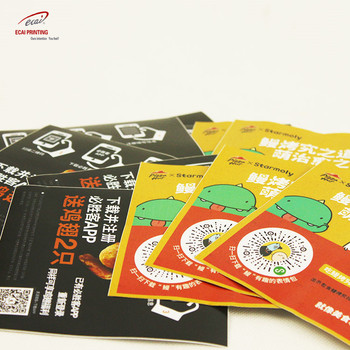 Professional Custom clear vinyl table adhesive sticker for food promotion