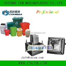 hot sell high quality injection swing lid trash bin mold