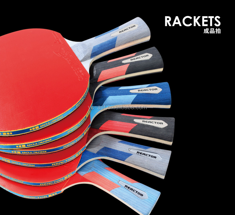 Reactor Wholesale Professional 2 star Table Tennis Bat Racket With Bag
