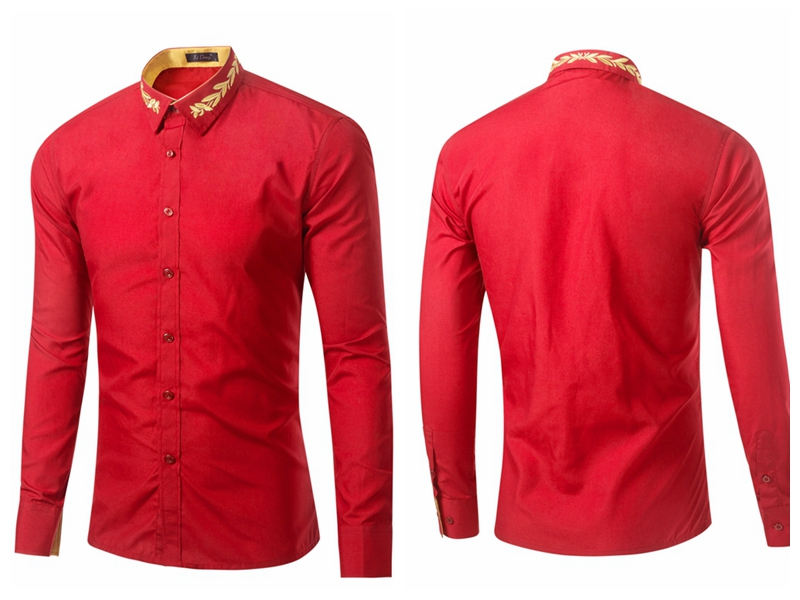25GD016 Wholesale High Quality Cotton Men Dress Shirts Office Long Sleeve Latest Formal Shirt Designs For Men