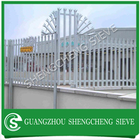 Commercial & Industrial sites protection fence glavnaized black metal palisade fenceing