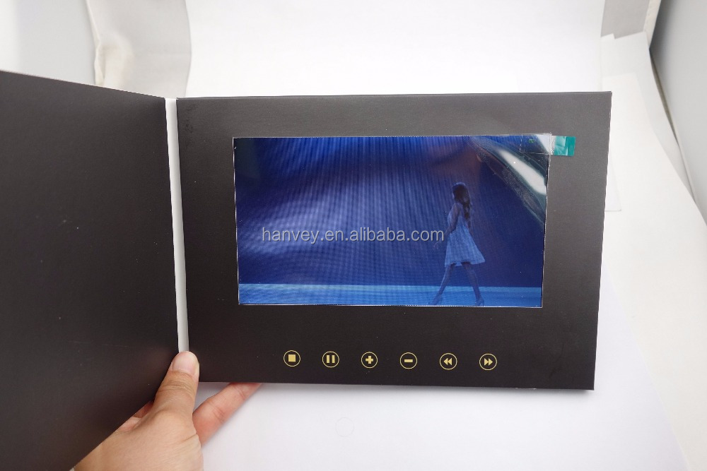 Customized 2.4'' 2.8'' 4.3'' 5'' 7'' 10'' lcd digital video greeting card /business video card