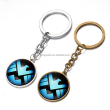 Wholesale offset polyresin zelda printed key chain for game souvenirs