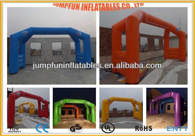 Air-tight or Blow continue inflatable arches/custom made Start line,Finish line